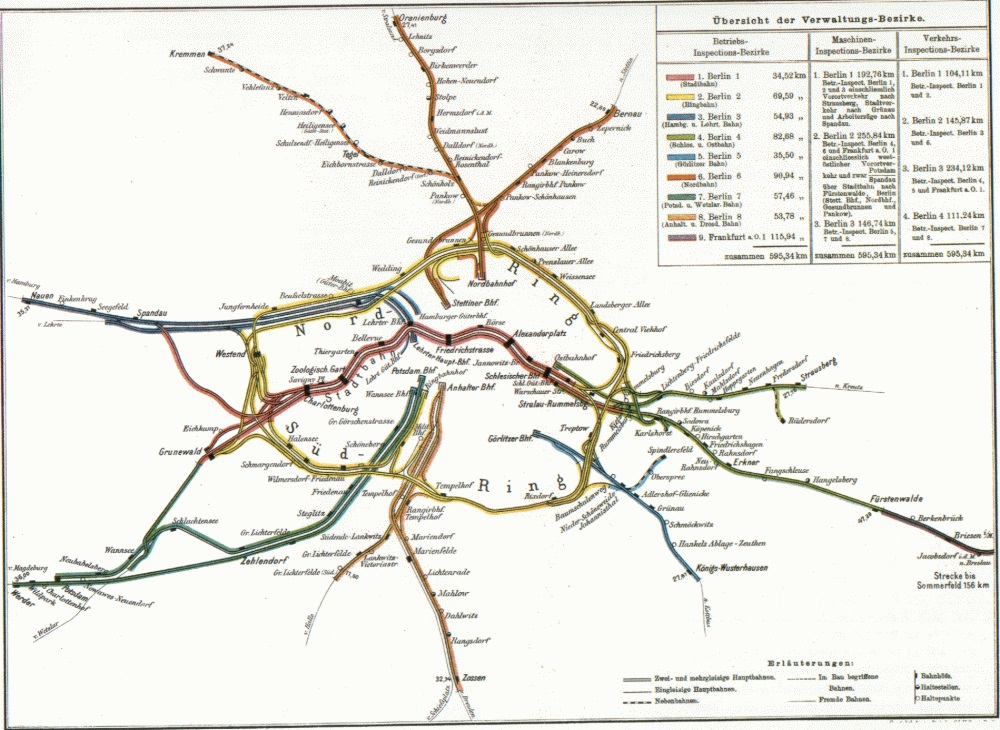 Berlin Transit Map - 1896