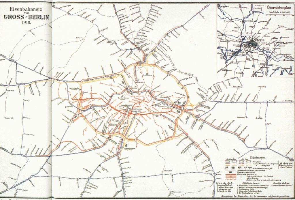 Berlin Transit Map - 1910