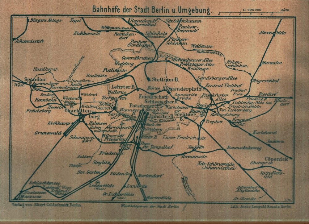 Berlin Transit Map - 1918