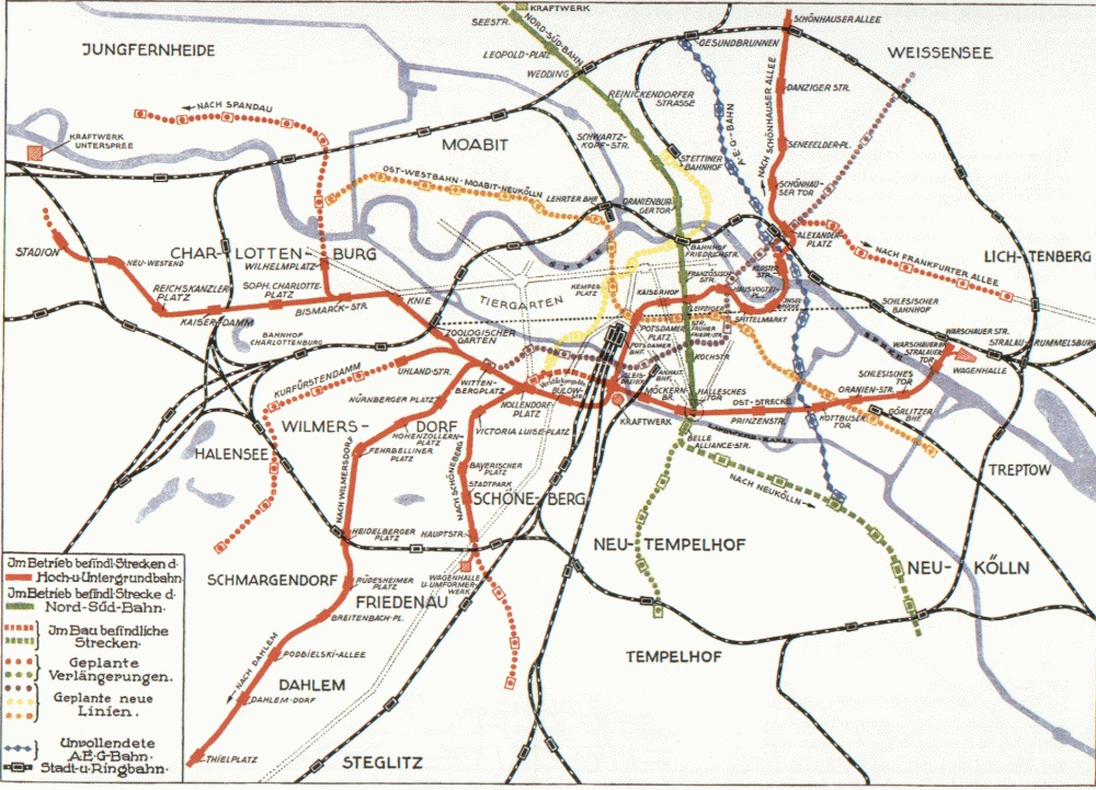 Berlin Transit Map - 1923