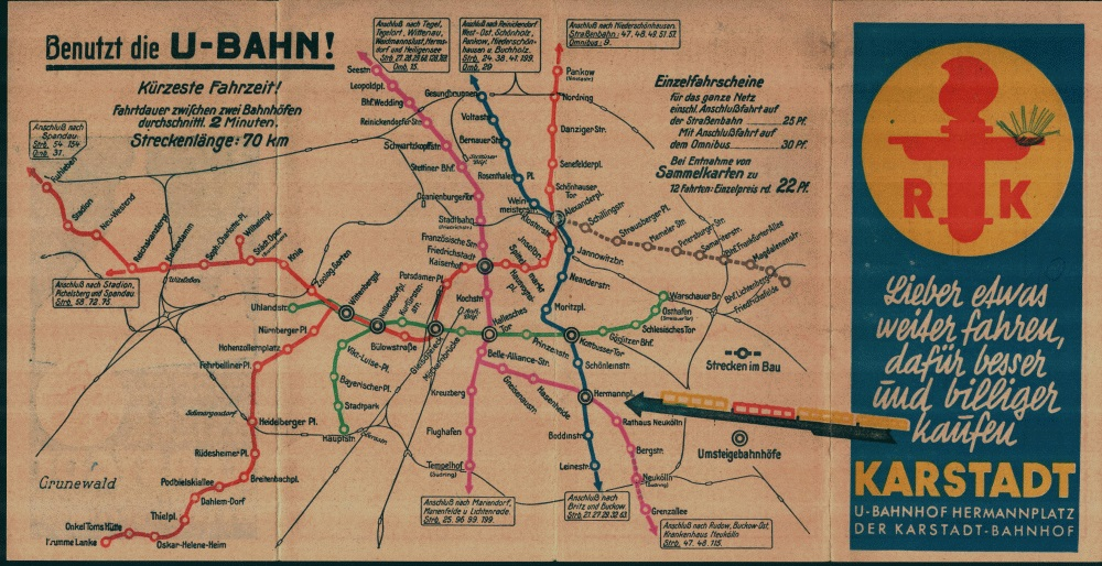 Berlin Transit Map - 1930