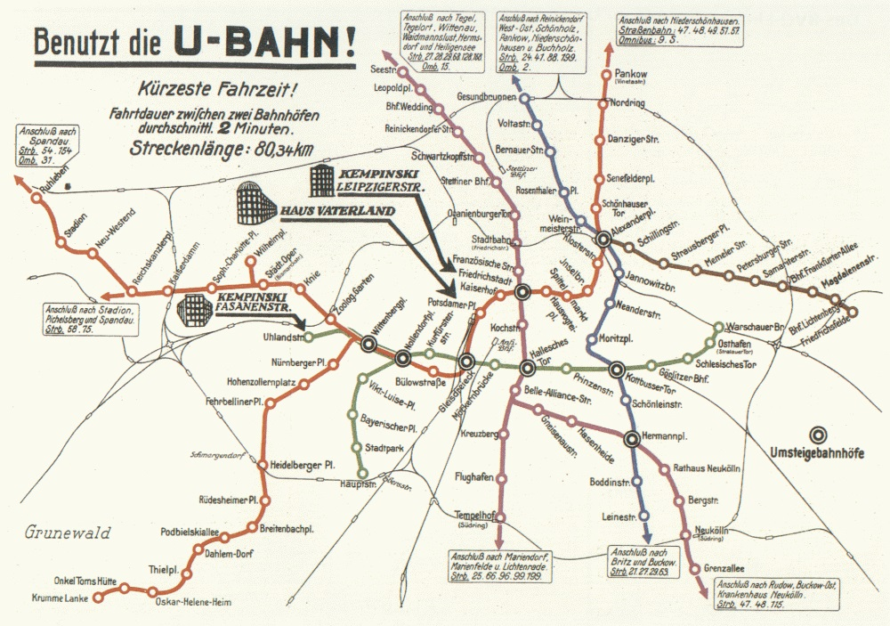 Berlin Transit Map - 1931 II