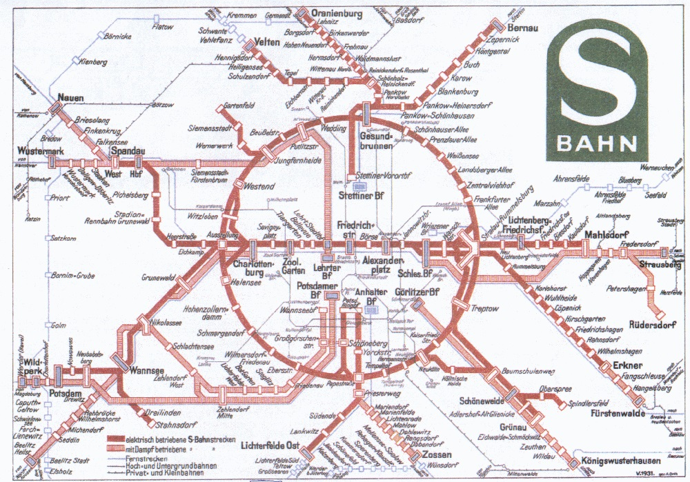 Berlin Transit Map - 1931