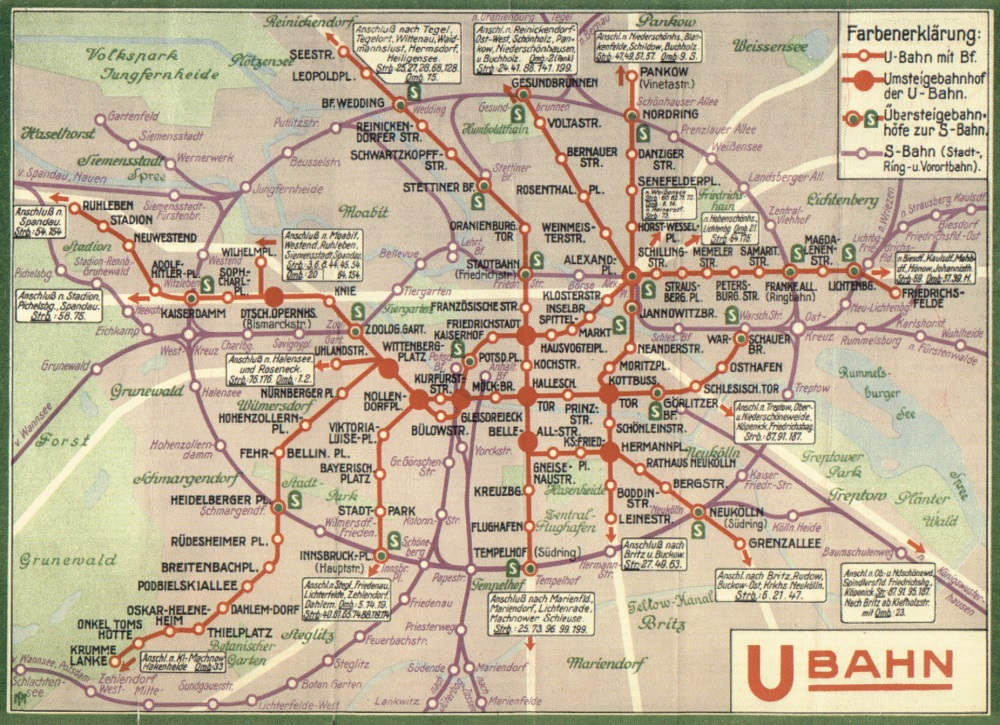 Berlin Transit Map - 1934