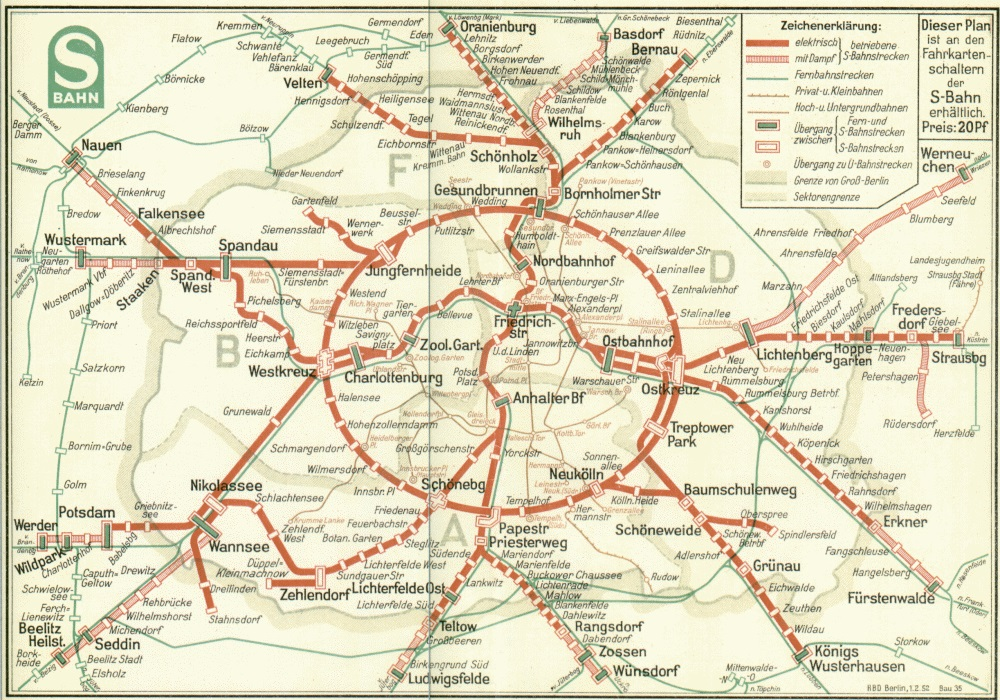 Berlin Transit Map - 1951