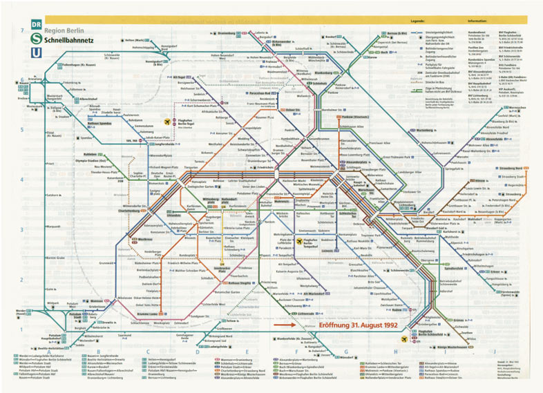 Berlin Transit Map - 1992