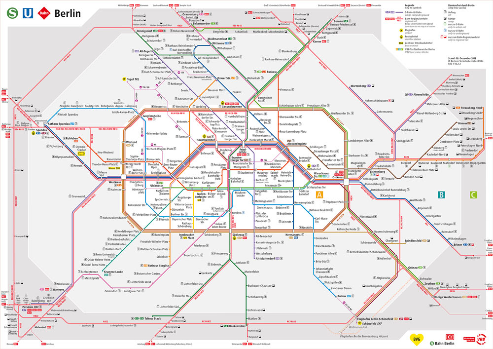 Berlin Transit Map - 2019