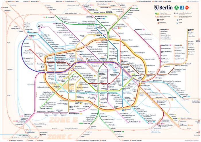 Berlin Transit Map - Pasha Omelekhin